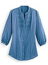 Pintucked Big Shirt | Blair