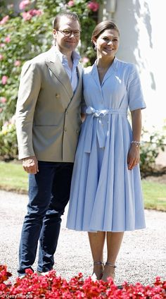 Queen in waiting: Crown Princess Victoria (with her husband, former personal trainer Prince Daniel) will host the Duke and Duchess of Cambridge this week