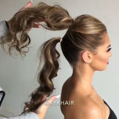 "5,866 Likes, 77 Comments - Luxy Hair (@luxyhair) on Instagram: ""How to create a longer looking pony ❤ Stunning hairstyle by @kykhair"""