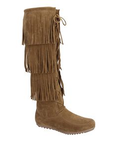 Look at this Step Up Shoes Tan Fringe Baylee Boot on #zulily today!