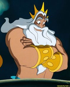 King Triton reminds me of Polonius. Polonius is Claudius' right-hand man/ his advisor and is also the father to Ophelia and Laertes. King Triton reminds me of Polonius because they are both fathers and both are good advisors. Little Mermaid Characters, Little Mermaid Movies, Little Mermaid Costumes, Disney Little Mermaids, Ariel The Little Mermaid, Real Mermaids, Disney Animated Movies, Disney Songs, Cartoon Movies