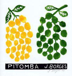 Pitomba - José Francisco Borges (Brazil), Woodcut print on paper (7 1/2 x 7 1/2), 2005