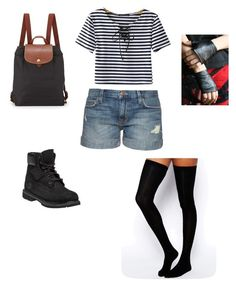 """""""Camp 3"""" by sammy-uribe on Polyvore featuring Current/Elliott, ASOS, Timberland, Chicnova Fashion and Longchamp"""