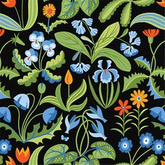 Millefleurs, Blue, from the Enchanted collection for FreeSpirit.