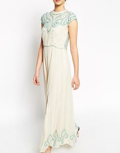 Image 3 ofFrock and Frill Maxi Dress With Baroque Embellishment