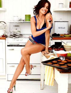 Actress Sofia Vergara in the kitchen:  Vergara stars on the ABC series Modern Family as Gloria Delgado-Pritchett, for which she was nominated for four Golden Globe Awards, four Primetime Emmy Awards, and seven Screen Actors Guild Awards