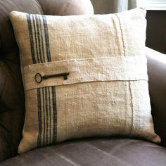 Skeleton key pillow - more ways to use skeleton keys in home decor @BrightNest Blog