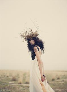 The wild goddess #white #pale #forest