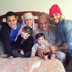 Adam with baba saleh and nephews and nieces