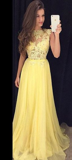 Yellow Prom Dress, Prom Dresses, Graduation Party Dresses, Formal Dres – bbpromdress