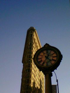 Clear skies over flat iron.