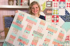 Jelly Roll Slice: Free Quilt Pattern with Fat Quarter Shop - Fat Quarter Shop's Jolly Jabber