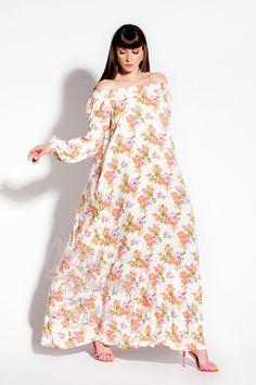 Floral Maxi Dress/ Boho dress/ Off the shoulders dress/ Maxi