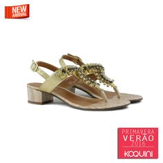 Olha só que gracinha de sandália saltinho com pedras por R$179,90 #koquini #sapatilhas #euquero Compre Online: http://koqu.in/1NFa0cT