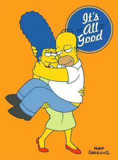 Marge and Homer Simpson pictures