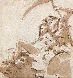 Giovanni Battista Tiepolo (1696 – 1770). Time unveiling Truth. [Pinned 31-viii-2015]