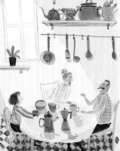 Black And White Illustration, Illustrations And Posters, Children's Book Illustration, Graphic Design Illustration, Juan Palomino, Sacher, Monochromatic Art, Art Sketchbook, Book Art