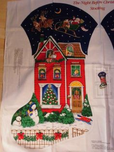 The Night Before Christmas  EXTRA Large Mantel or Fireplace Stocking