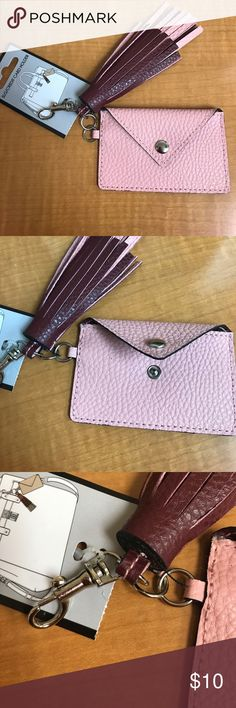 Tassel card and key holder mini wallet Brand new with tags. Super cute! Accessories Key & Card Holders