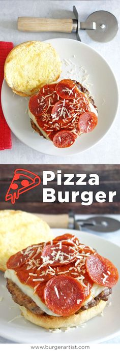 The pizza burger is amazingly delicious and easy to make. Create your own by picking your favorite pizza toppings.