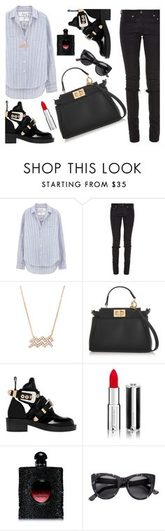 """Untitled #221"" by ivanov1234491 ❤ liked on Polyvore featuring Frank & Eileen, Yves Saint Laurent, Fendi, Balenciaga and Givenchy"