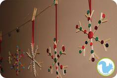 vánoční hvězdičky ze špachtlí