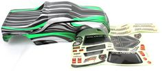 1/8 Truck Body Green and Black