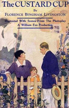 1923 bookcover showing an example of a bungalow back garden - picket fence, morning glory and laundry hanging to dry on a line (now that's an everyday sort of picture)