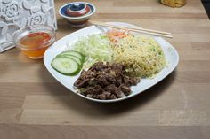 Rice Dishes - Grilled Pork Rice (Egg Fried)
