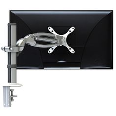 Elipta Medium Swivel Flat Screen Monitor Arm.  The Elipta Medium Swivel Multi-Directional Flat Screen Monitor arm is supplied with a 265mm screen post height.  Options: - White or silver powdercoat finish - Edge 'U' clamp or bolt through desk fixing - Standard or heavy duty springs. Clamp, Office Furniture, Monitor, Flat Screen, Arm, Desk, Medium, Silver, Accessories