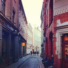 The narrow streets of Old Riga.