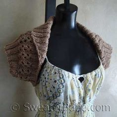 Quick Knit Shawl-Collared Shrug PDF Knitting Pattern from SweaterBabe.com