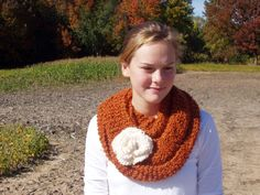 Pumpkin Spice Rust Orange Autumn Infinity by TheCountryBluebird