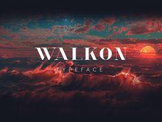 WalkOn, tipografía gratuita creada para el mundo de la moda y perfecta para titulares