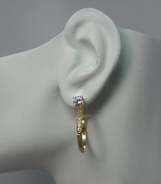 14k Gold Earring Jackets For Studs Gemstone Enhancer Diamond Stud Ear S Fluted Texture Rectangle Shape Jhex14ksh Pinterest