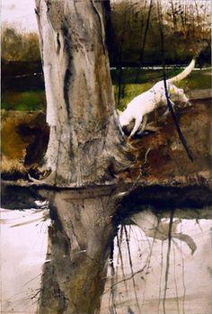 "Andrew Wyeth, 'Egg Hunt,' 1988, 30.5""x20.5"", Adelson Galleries"