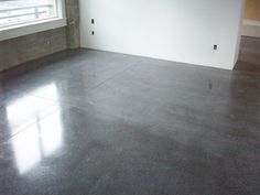 concrete floors   Diamond Buffing is an economical option for finishing concrete ...