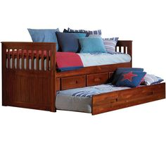 New Energy Merlot Rake Twin Bed $549 with 6 drawers (extra cost for trundle)