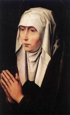 Hans Memling-Mater Dolorosa, 1480-1490 circa, olio su tavola, 55×33 cm, Firenze, Galleria degli Uffizi