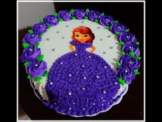 Bolo Princesa Sofia Sofia Birthday Cake, Happy Birthday Cake Pictures, Barbie Birthday Cake, Happy Birthday Cakes, Cake Decorating Designs, Easy Cake Decorating, Birthday Cake Decorating, Torte Frozen, Elsa Torte