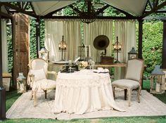 Glamorous Old-Fashioned Reception Decor