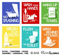 Kids Bathroom Wall Art kids bathroom wall art. bathroom rules printables. brush wash