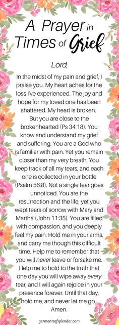 A Prayer in Times of Grief