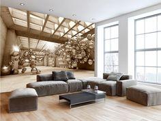 Moderní vzor a žádaný 3D efekt je to pravé pro vaše stěny. Elegantní tapeta, která prozáří pokoj a vytvoří z něj designové prostředí. Blue Wool, Corridor, Decoration, Dining Bench, Couch, Furniture, Home Decor, Amazon Fr, Design