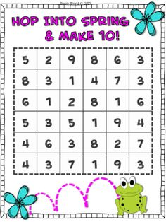 Free!  First Grade Friend-Zee! Spring Freebie for numbers and operations!