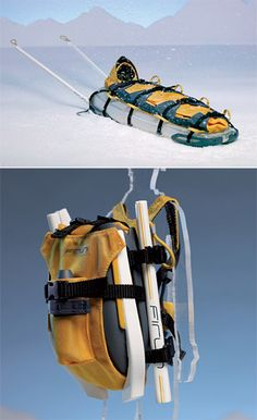 If you and your buddies like to travel long distances on icy terrain, there's a good chance someone will end up hurt. This inflatable sled functions as a gurney or a rest buggy, allowing you to transport anyone injured to safety. Perhaps the best thing about the Firun is that you can carry it on your back and it's lighter than a baby's conscience.