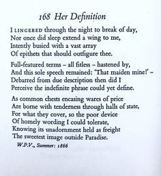 Thomas Hardy, Her Definition.