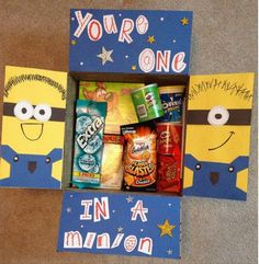 Minion College Care Packages | They'll surely feel you care with this care package idea. #DIYReady DIYReady.com