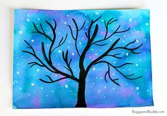 Starry Nigh Sky Art Project for Kids