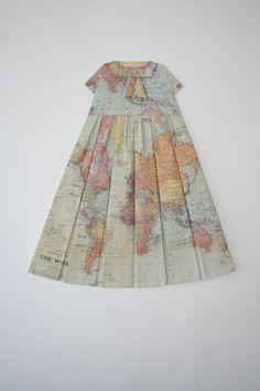 maps and paper folding | Elisabeth Lecourt
